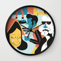 brussels Wall Clocks featuring Ordinary day in brussels by Dr ponce