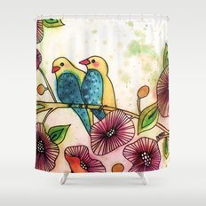let's go there Shower Curtain