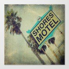Shores Motel Sign Canvas Print