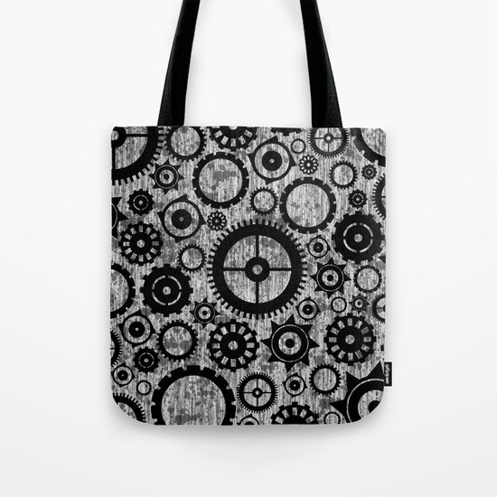 Grunge Cogs. Tote Bag