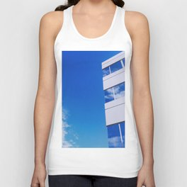 Building and Clouds Reflection Unisex Tank Top