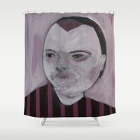 girly Shower Curtains featuring Girly by Embla Øverbye