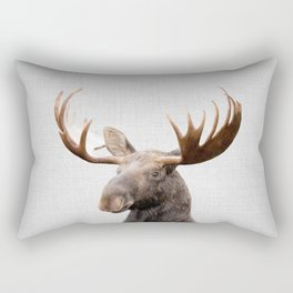 Moose - Colorful Rectangular Pillow