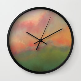 Fiery Morning Wall Clock