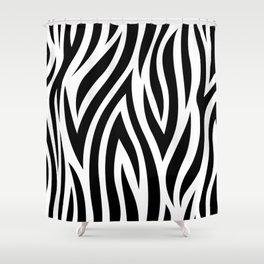 Large Zebra Animal Print Shower Curtain