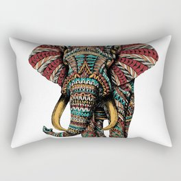 Ornate Elephant (Color Version) Rectangular Pillow