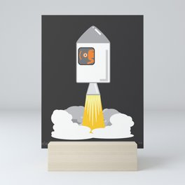 eye to the moon Mini Art Print