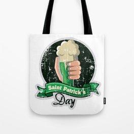 St Patricks Beer Mug Vintage Distressed Irishman Tote Bag