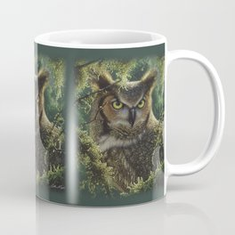 Great Horned Owl - Watching and Waiting Coffee Mug