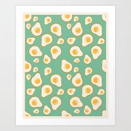 Eggvocados (bordered) Art Print
