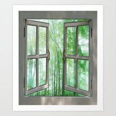 WINDOW TO NATURE Art Print