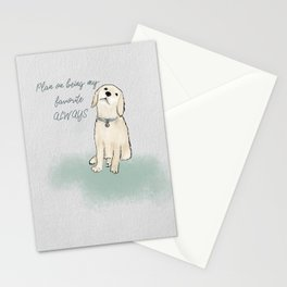 Golden Retriever Favorite Dog Watercolor Stationery Cards