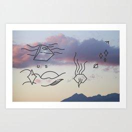 Smoking Mountain  Art Print