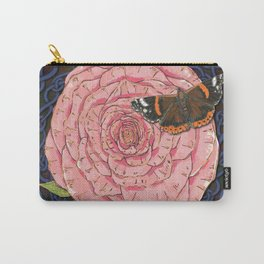 Celtic Rose and Red Admiral Butterfly Carry-All Pouch