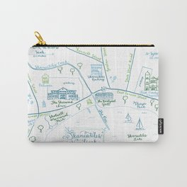 Skaneateles, New York Illustrated Calligraphy Print Carry-All Pouch