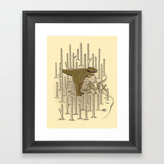T-REX Framed Art Print
