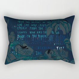 """Conquest of the Useless"" by Werner Herzog Print (v. 8) Rectangular Pillow"