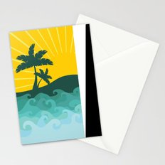 Sun and sea Stationery Cards