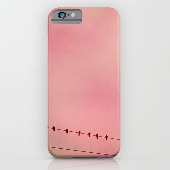 Pink Sky and 6 Birds iPhone & iPod Case