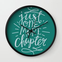 Book Nerd One More Chapter Teal Wall Clock
