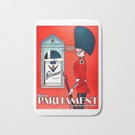 Vintage Parliament Cigarette Advert Bath Mat