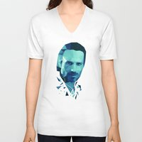 rick grimes V-neck T-shirts featuring Rick Grimes - The Walking Dead by Dr.Söd