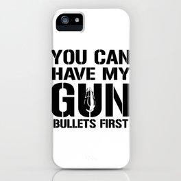 My Gun Bullets iPhone Case