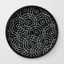 Random Rings Silver Wall Clock