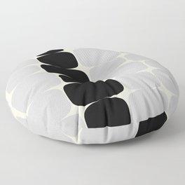 Abstraction_Balance_ROCKS_BLACK_WHITE_Minimalism_001 Floor Pillow