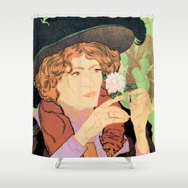 Art Nouveau Expo Salon des Cent Paris Shower Curtain