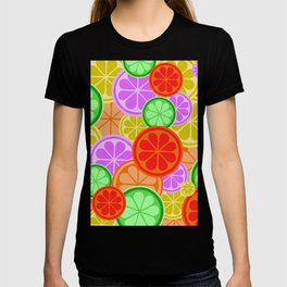 Citrus Explosion - A Pattern of Many Fruits from the Citrus Family T-shirt