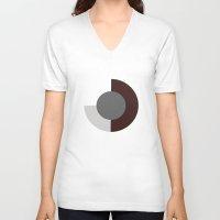 minimalist V-neck T-shirts featuring Minimalist by Akehworks