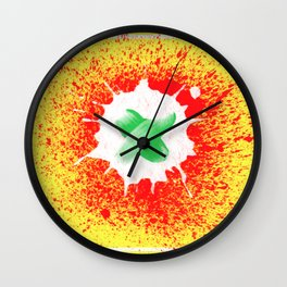 Abstract background created with different brushes Wall Clock