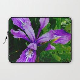 Wild Purple Iris Laptop Sleeve