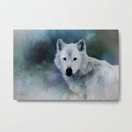 Spirit of White Wolf Metal Print