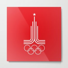 Olympiad-80 (white) Metal Print