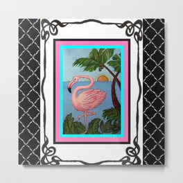 Flamingo Paradise Metal Print