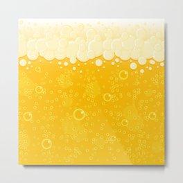 Beer Bubbles Metal Print