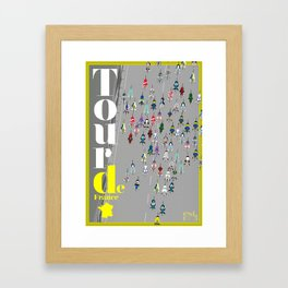 Tour De France Framed Art Print