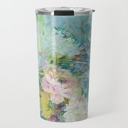 Abstract pastel spring floral Travel Mug