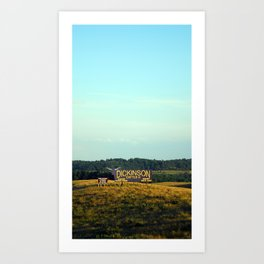 hill top Art Print