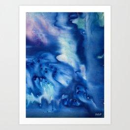 Classic Blue Waves Art Print
