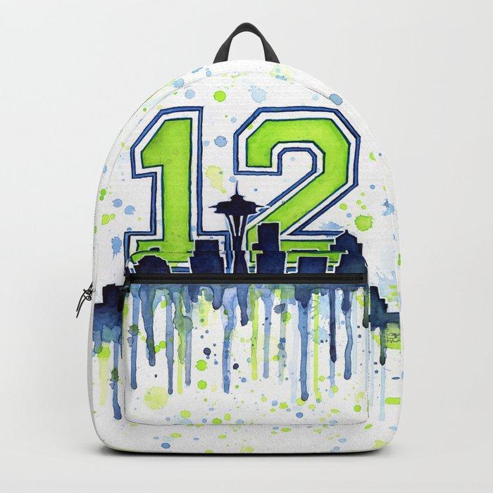 Seattle 12th Man Fan Art Seattle Space Needle Backpack