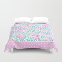 5 seconds of summer Duvet Covers featuring Summer Days 5 by Posh & Painterly
