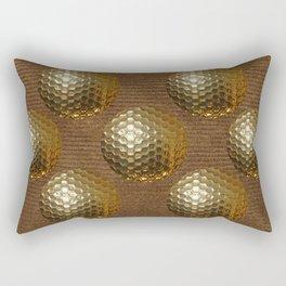 GOLDEN GOLF BALLS Rectangular Pillow