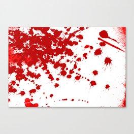 Red Splatter Canvas Print