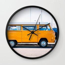 Combi yellow Wall Clock