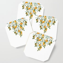 A Bit of Spring and Sushine Trailing Oranges Coaster