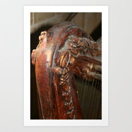 The Old Harp Art Print