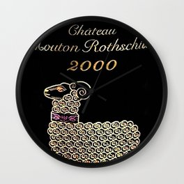 Vintage 2000 Chateau Rothschild Wine Bottle Label Print Wall Clock